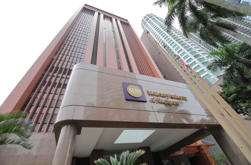 Singapore - November 15, 2018: Monetary Authority of Singapore MAS. Monetary Authority of Singapore MAS is Singapores central bank and financial regulatory authority established in 1971.