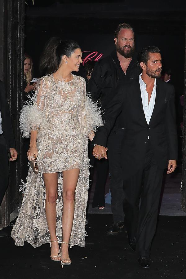 Kendall was in Cannes with Scott Disick.