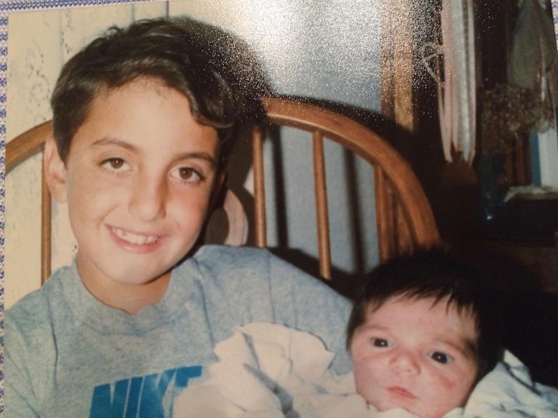 Alex Stamos, at about 8, with his younger brother, Peter. Photo courtesy: Alex Stamos