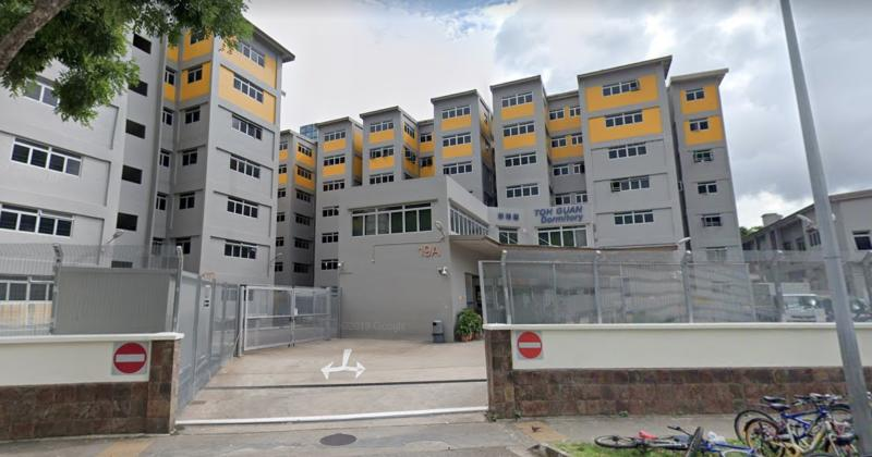 Toh Guan Dormitory at Toh Guan Road East. (PHOTO: Screenshot/Google Maps)