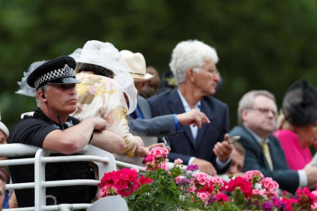 Horse Racing - Royal Ascot - Ascot Racecourse, Ascot, Britain - June 19, 2018 Police officer looks on REUTERS/Paul Childs