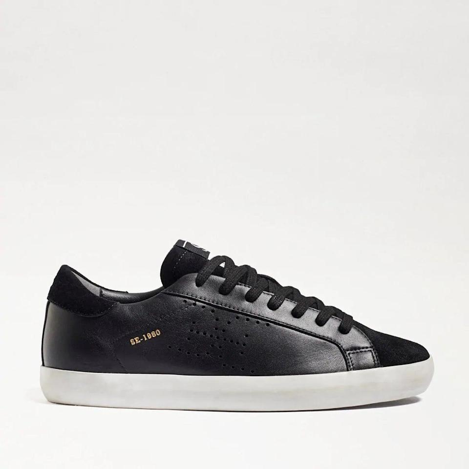 <p>If you prefer the sleek look of dark leather, these <span>Sam Edelman Aubrie Lace-Up Sneakers</span> ($120) come in that easy, low-rise silhouette.</p>