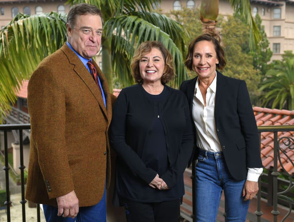 John Goodman, Roseanne Barr and Laurie Metcalf