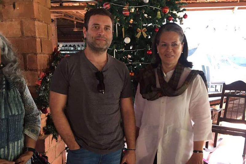 Rahul Spends New Year With Mother Sonia Gandhi in Goa