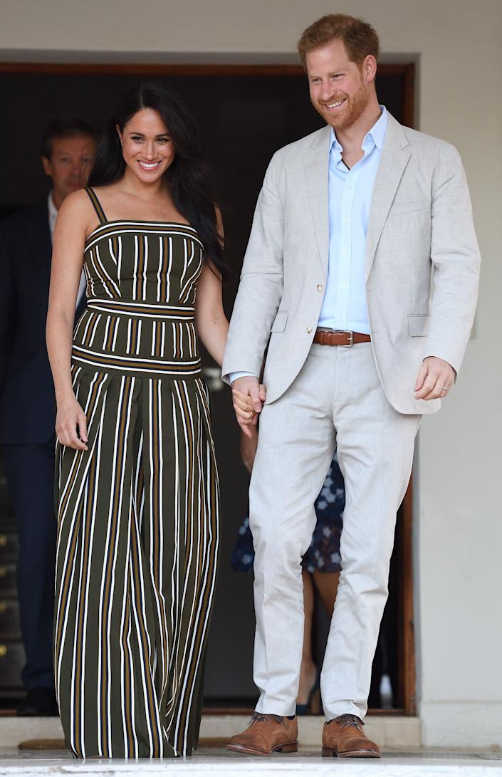 Harry and Meghan attend a reception for young people, community and civil society leaders at the Residence of the British High Commissioner in Cape Town, South Africa.