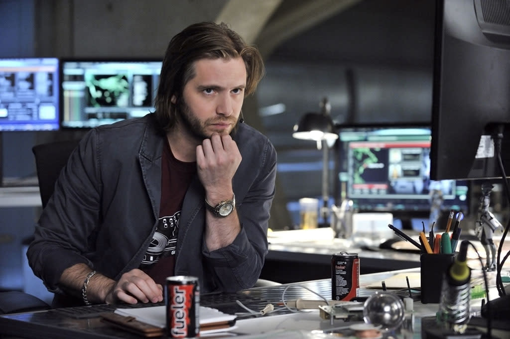 "Aaron Stanford as Birkoff in the ""Nikita"" Season 3 episode, ""Innocence."""