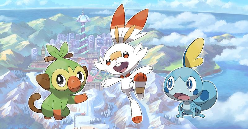 Nintendo Unveils Pokemon Sword And Shield Introduces New Starters