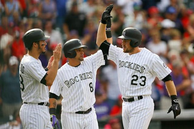 Tom Murphy has plenty of power potential for the Rockies this season. (Photo by Justin Edmonds/Getty Images)