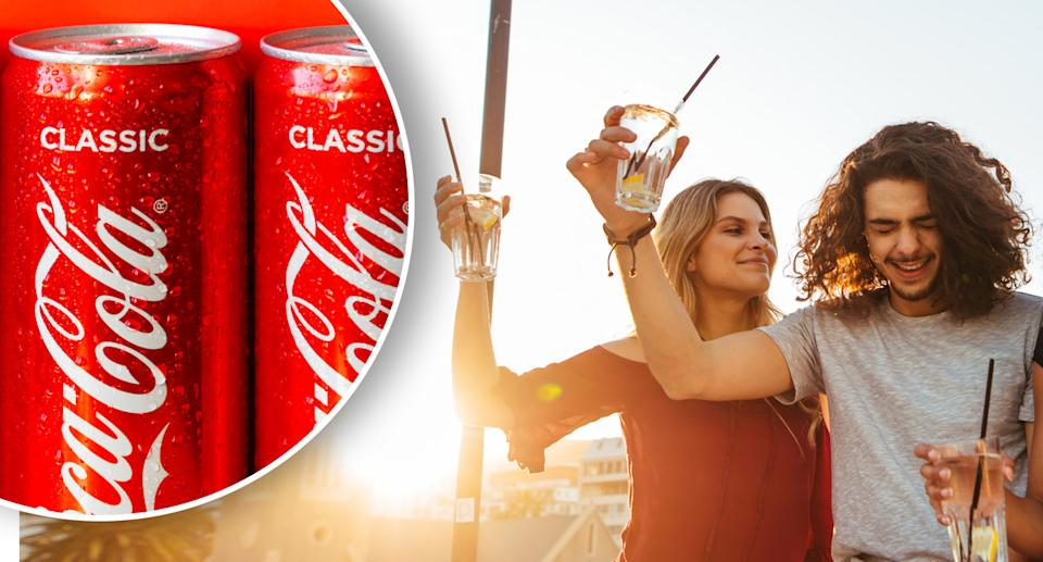 Coca-Cola will bring alcoholic seltzers to Australians later this year. Source: Getty