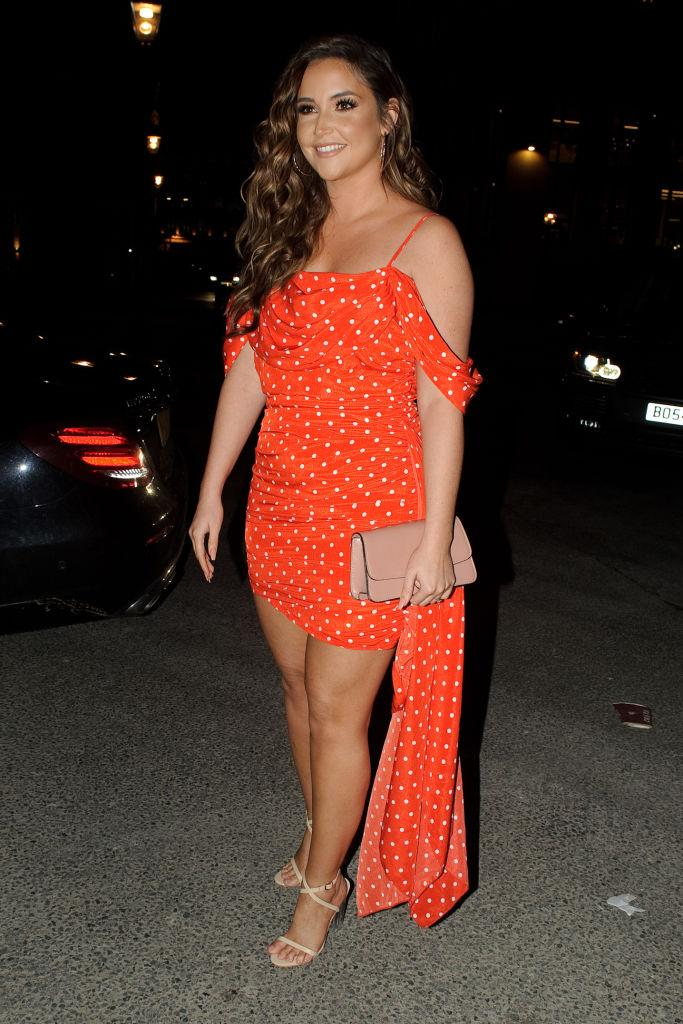 Jacqueline Jossa has delivered a dose of body realness on social media, pictured in February 2020. (Getty Images)