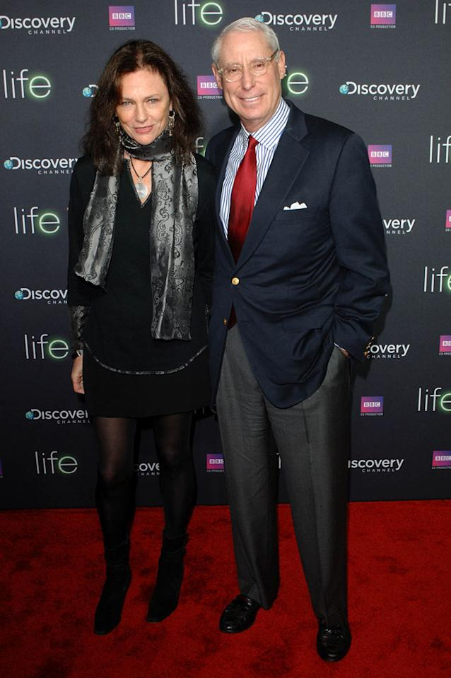 """<a href=""""/jacqueline-bisset/contributor/32304"""">Jacqueline Bisset</a> and Henry Schleiff arrive at Discovery Channel's Los Angeles Screening of <a href=""""/life/show/44198"""">""""Life""""</a> at the Getty Center on February 25, 2010."""