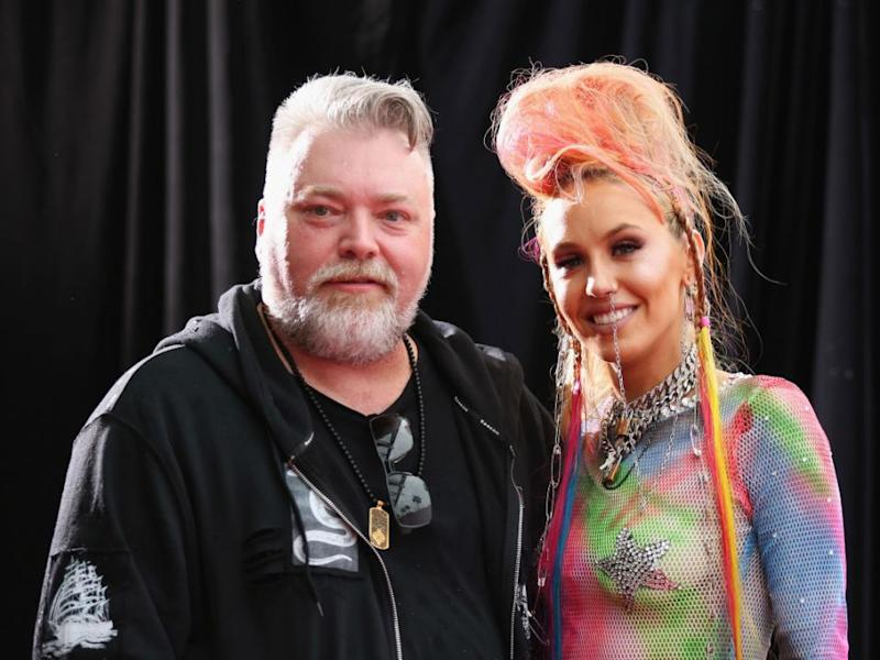 1c2c6b340b90 Kyle Sandilands' girlfriend Imogen Anthony spoke to Be on the ARIAs red  carpet. Source