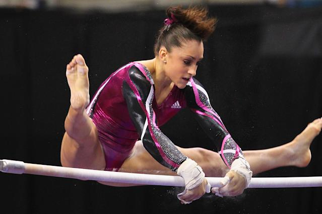 ST. LOUIS, MO - JUNE 10: Jordyn Wieber competes on the uneven bars during the Senior Women's competition on day four of the Visa Championships at Chaifetz Arena on June 10, 2012 in St. Louis, Missouri. (Photo by Dilip Vishwanat/Getty Images)