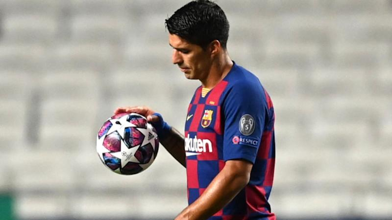 Tearful Suarez in Messi tribute during Barca farewell as he confirms Koeman decision