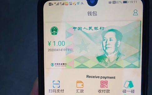 A screenshot circulating online purportedly showing a test version of China's sovereign digital currency