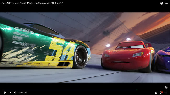 Take another sneak peek at 'Cars 3' with the new extended trailer