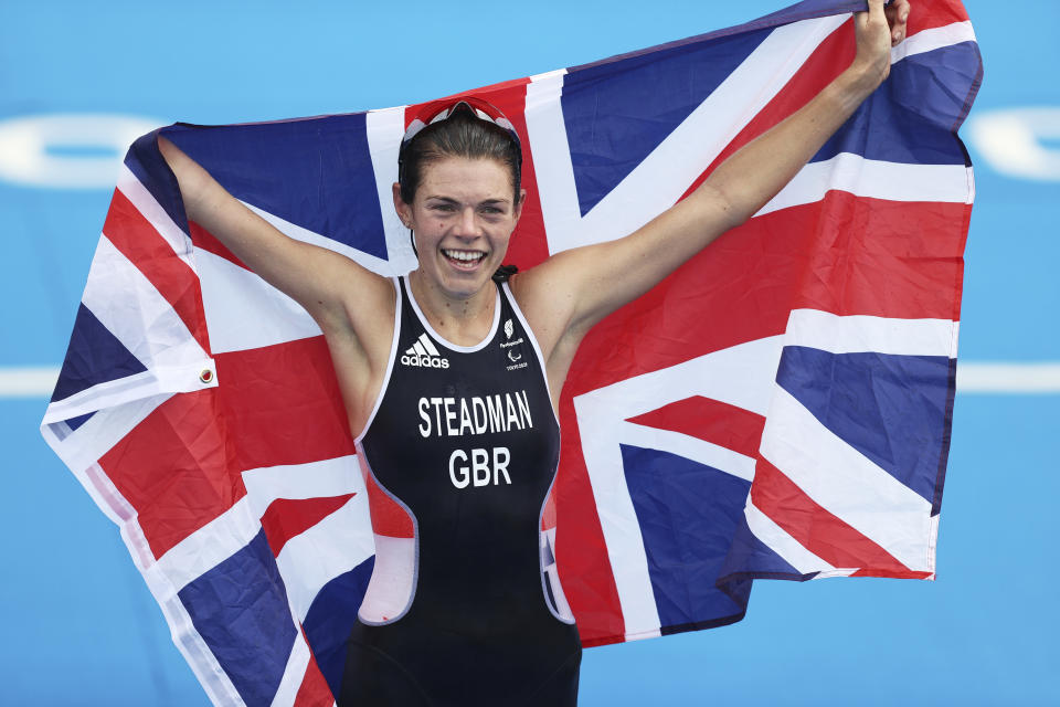 Steadman, 28, lived up to the pre-Games hype to dash to triathlon gold in Japan
