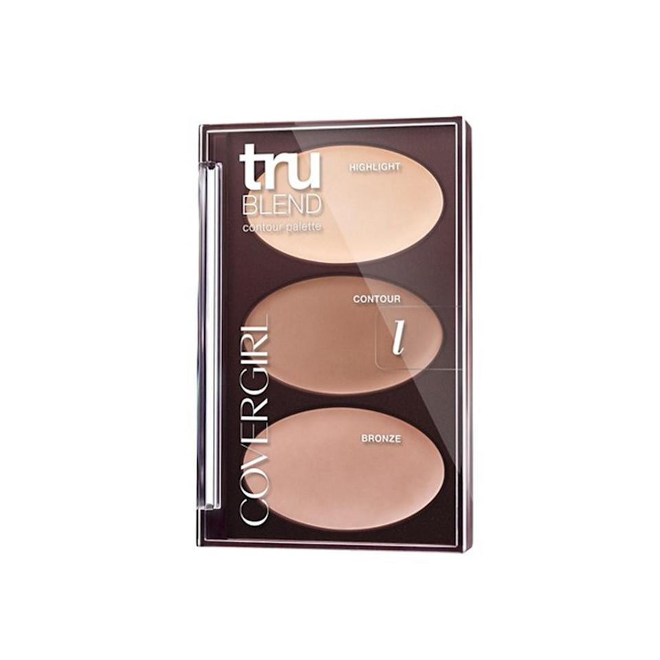 """<p><strong>CoverGirl TruBlend Contour Palette</strong></p> <p>Pat McGrath designed this three-step contour palette, so you know it <em>has</em> to be good. The best part: each shade is labeled, so there's no confusion about which one to use for each step.</p> <p>$9.98 (<a href=""""https://www.walmart.com/ip/COVERGIRL-truBLEND-Contour-Palette-0.28-oz/50275590?mbid=synd_yahoobeauty"""" rel=""""nofollow noopener"""" target=""""_blank"""" data-ylk=""""slk:walmart.com"""" class=""""link rapid-noclick-resp"""">walmart.com</a>).</p>"""