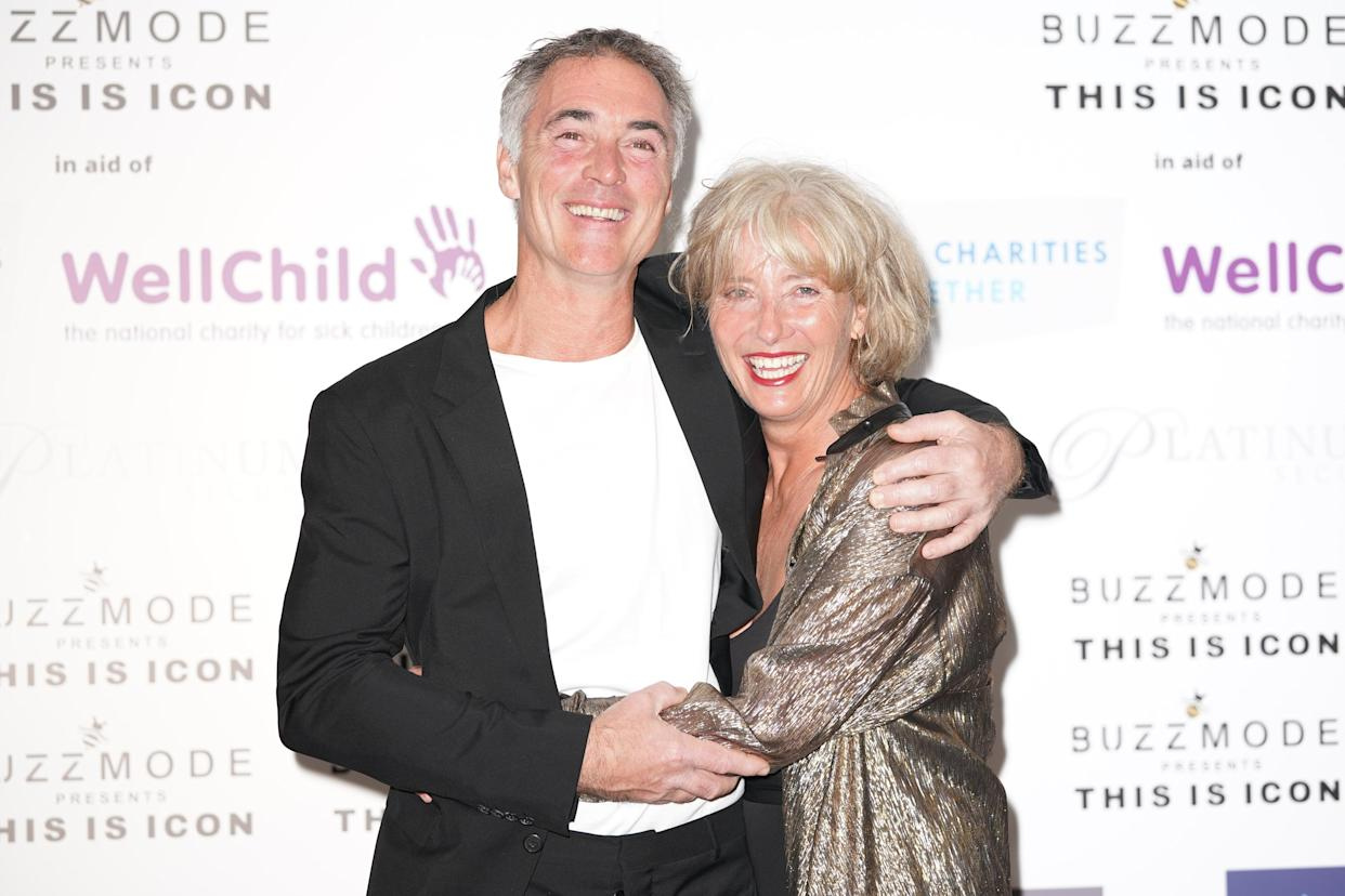 Greg Wise and Emma Thompson arriving for the ICON Ball fashion event fundraiser, in aid of NHS Charities Together and Well Child, at The Landmark Hotel, central London. Picture date: Friday September 17, 2021.