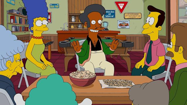 """Apu Nahasapeemapetilon is a recurring character on """"The Simpsons."""" (FOX via Getty Images)"""