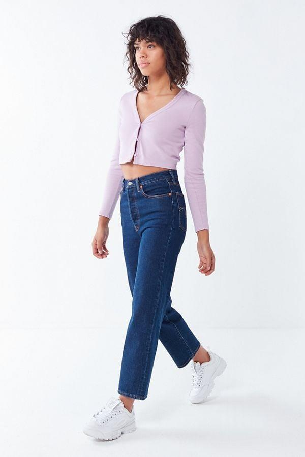 <p>If you're partial to a high-rise not-too-stretchy denim, these <span>Levi's Ribcage High-Rise Straight Leg Jeans</span> ($98) were made for you.</p>