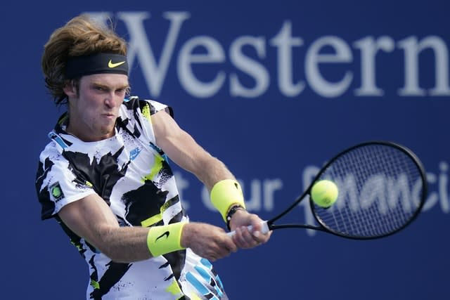 Andrey Rublev was edged out in a decider by Dan Evans