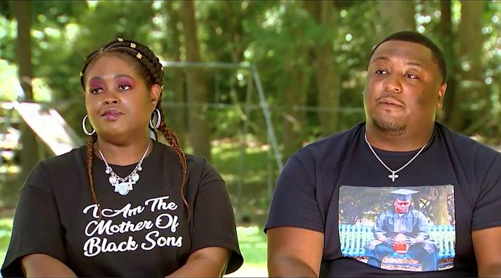 Ariane's cousin Tabitha and brother Michael McCree. (NBC News)