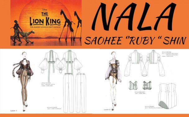 PHOTO: Ruby SeoHee Shin, a fourth-year student designing for Nala from 'The Lion King.' (Ruby SeoHee Shin)
