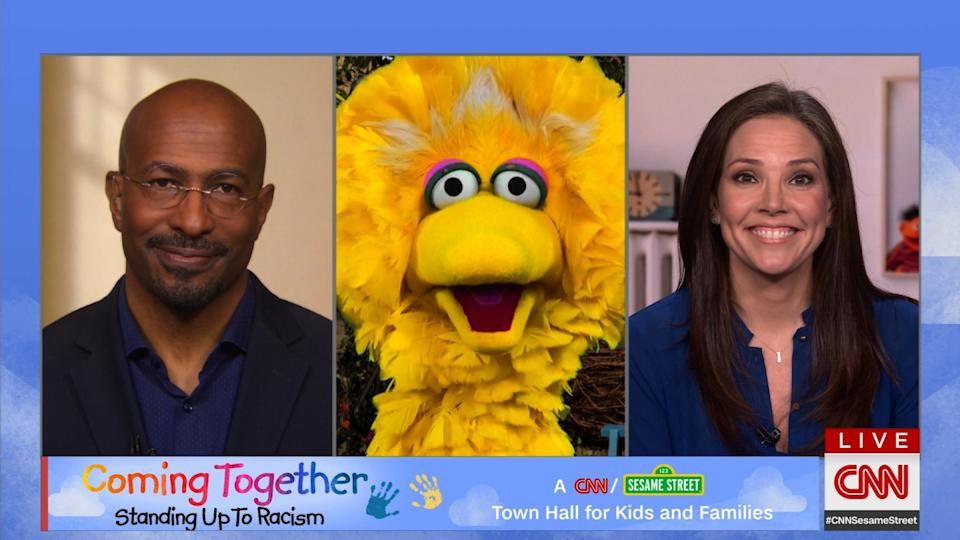 CNN and Sesame Street hosted a June 6 town hall to discuss racism with kids and families. (Photo: Courtesy of CNN)