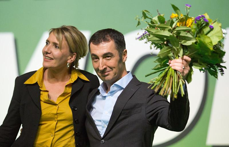 German Greens politician Cem Ozdemir, seen at the party's conference in Berlin, on October 19, 2013