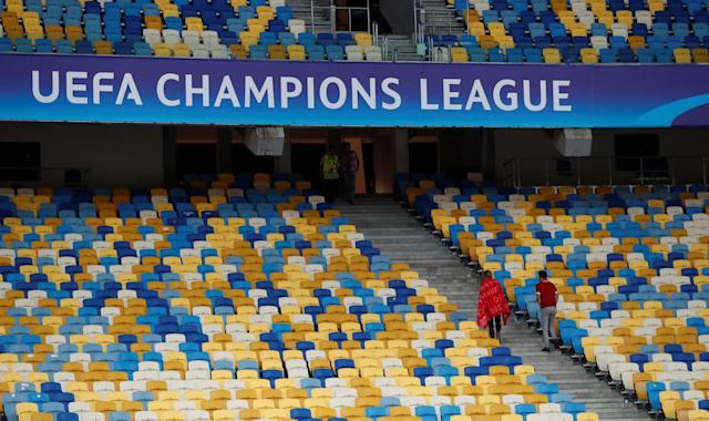 Soccer Football - Champions League Final - Real Madrid v Liverpool - NSC Olympic Stadium, Kiev, Ukraine - May 26, 2018 Fans leave the stadium after the match REUTERS/Andrew Boyers