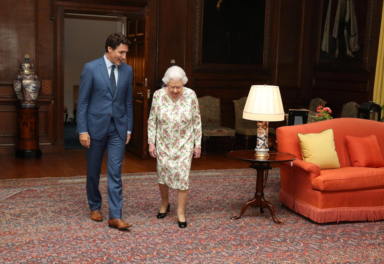 <p>The conversation was 'warm and engaged' as usual, the prime minister remarked, noting the Queen's vast 'knowledge and interest' on affairs related to Canada. (Canadian Press) </p>