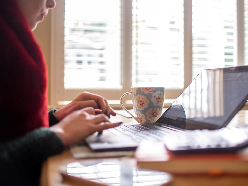 <p>More than a year into the pandemic, many office workers are still working from home part or all of the time</p> (PA)