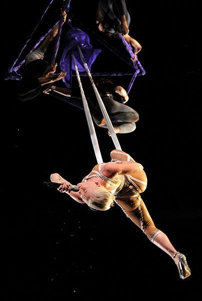 Possibly even more memorable was P!nk's barely-there costume from that same 2010 Grammy Awards
