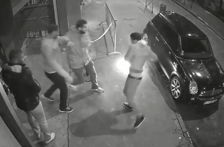 Terrifying footage shows the moment an e-cigarette explodes in a man's pocket