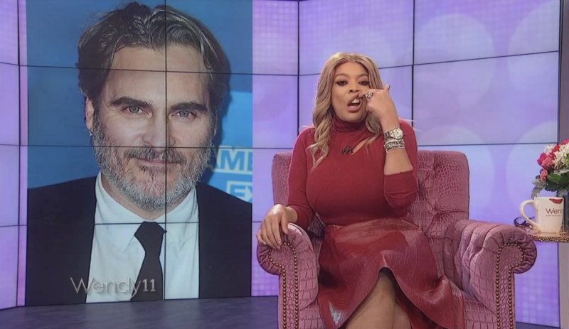 Wendy Williams mocked Joaquin Phoenix's appearance — and is now apologizing. (Screenshot: The Wendy Williams Show)
