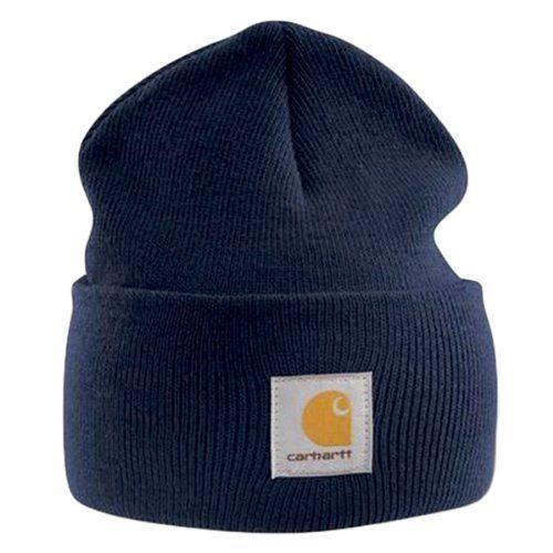 """<p><strong>Carhartt </strong></p><p>amazon.com</p><p><strong>$33.00</strong></p><p><a href=""""http://www.amazon.com/dp/B006OMVUCK/?tag=syn-yahoo-20&ascsubtag=%5Bartid%7C10049.g.5199%5Bsrc%7Cyahoo-us"""" rel=""""nofollow noopener"""" target=""""_blank"""" data-ylk=""""slk:Shop Now"""" class=""""link rapid-noclick-resp"""">Shop Now</a></p><p>Odds are a knit beanie in navy will go with most of his wardrobe and it'll also keep his head super warm in snowy weather.</p>"""