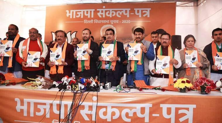 Delhi elections, BJP manifesto, AAP manifesto, Delhi Assembly elections 2020, Manoj Tiwari, Arvind Kejriwal, Delhi news, Indian Express