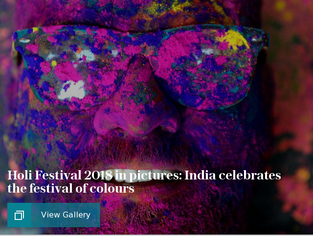 Holi Festival 2018 in pictures: India celebrates the festival of colours