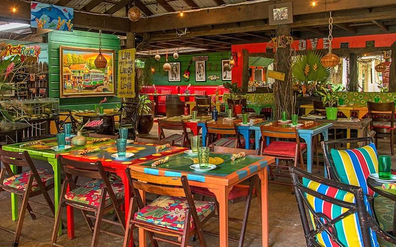 Try the home-style curried goat or traditional oxtail stew at Miss T's Kitchen