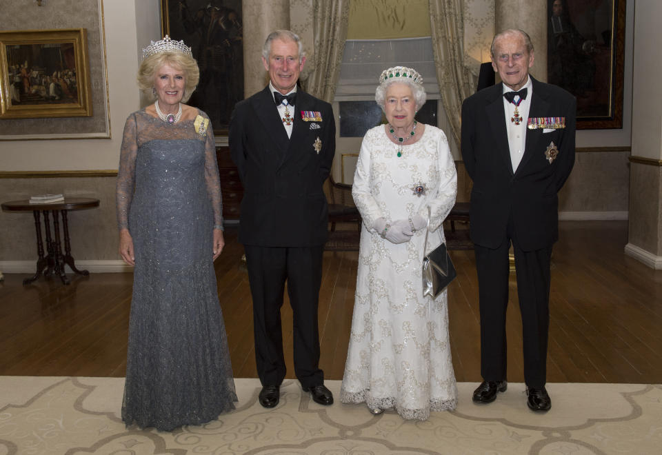Image of royal family Queen Philip Charles Camilla