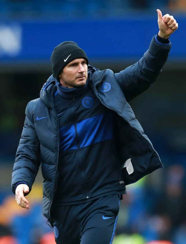 Frank Lampard, pictured, has given a thumbs up to working with Chelsea's board (Adam Davy/PA)