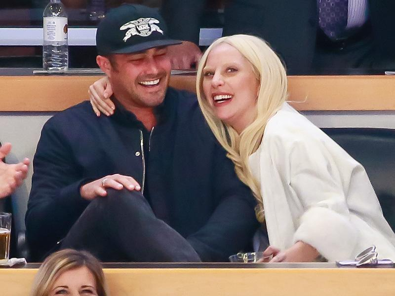 Lady Gaga Smooches Up Fiancé Taylor Kinney for the Kiss Cam at a Hockey Game| Music News, Lady Gaga, Taylor Kinney