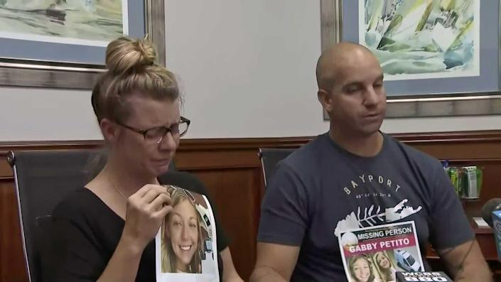 On September 11, 2021, Nichole Schmidt, Gabby Petito's mother, files a missing person's report with the Suffolk County, New York, Police Department. Schmidt and husband Jim appeal for Gabby's safe return. / Credit: WCBS