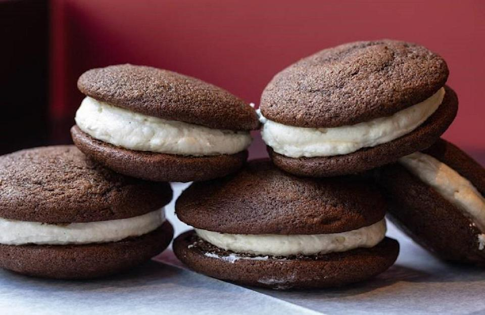 "<p>Whoopie pies have reportedly been baked in Maine since 1925. While many states lay claim to the whoopie pie, Maine made it their official state treat in 2010. The <a href=""https://www.thedailymeal.com/make-ahead-meals-you-can-freeze?referrer=yahoo&category=beauty_food&include_utm=1&utm_medium=referral&utm_source=yahoo&utm_campaign=feed"" rel=""nofollow noopener"" target=""_blank"" data-ylk=""slk:beloved comfort food"" class=""link rapid-noclick-resp"">beloved comfort food</a> can be found at various dessert shops across the state.</p> <p><a href=""https://www.thedailymeal.com/best-recipes/whoopie-pies?referrer=yahoo&category=beauty_food&include_utm=1&utm_medium=referral&utm_source=yahoo&utm_campaign=feed"" rel=""nofollow noopener"" target=""_blank"" data-ylk=""slk:For the Whoopie Pie recipe, click here"" class=""link rapid-noclick-resp"">For the Whoopie Pie recipe, click here</a>.</p>"