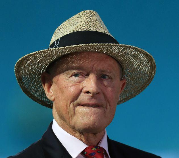 Geoffrey Boycott during day four of the fifth test match at The Kia Oval, London.