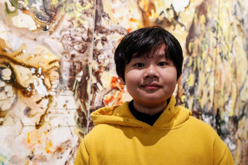 Art exhibit by 12-year-old 'young Jackson Pollock' opens in New York