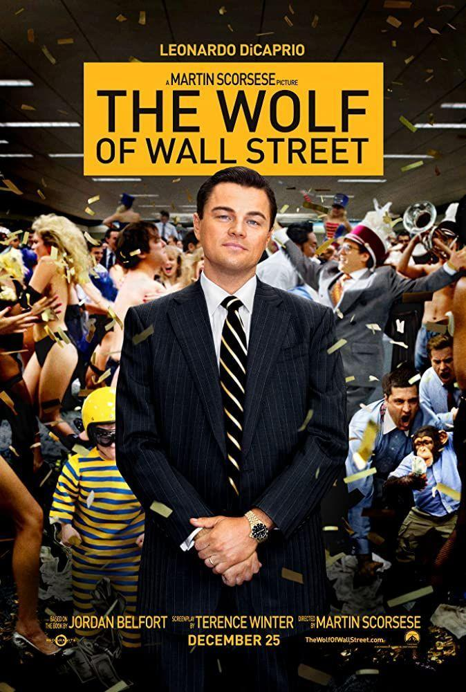 """<p>Sex, drugs, and corruption (not much rock 'n' roll here)... Jordan Belfort (Leonardo DiCaprio) is a stockbroker who goes off the rails and commits fraud after drug-soaked fraud. Also, it was the movie that <a href=""""http://www.guinnessworldrecords.com/news/2014/1/how-the-wolf-of-wall-street-broke-movie-swearing-record-54478/"""" rel=""""nofollow noopener"""" target=""""_blank"""" data-ylk=""""slk:broke the world record"""" class=""""link rapid-noclick-resp"""">broke the world record</a> for cursing in a film.</p><p><a class=""""link rapid-noclick-resp"""" href=""""https://www.amazon.com/The-Wolf-of-Wall-Street/dp/B00IIU9U00?tag=syn-yahoo-20&ascsubtag=%5Bartid%7C2140.g.27486022%5Bsrc%7Cyahoo-us"""" rel=""""nofollow noopener"""" target=""""_blank"""" data-ylk=""""slk:Watch Here"""">Watch Here</a></p>"""