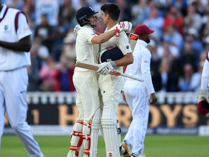 Root and Cook were the stars of day one: Getty Images