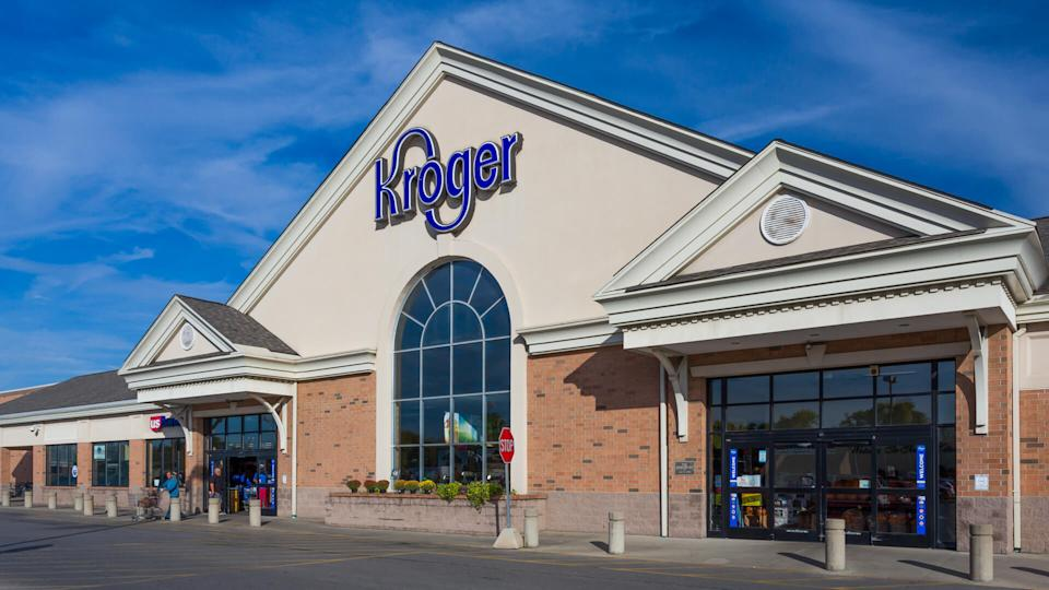 COLUMBUS, OH/USA - OCTOBER 21, 2017: Kroger grocery store exterior and logo.